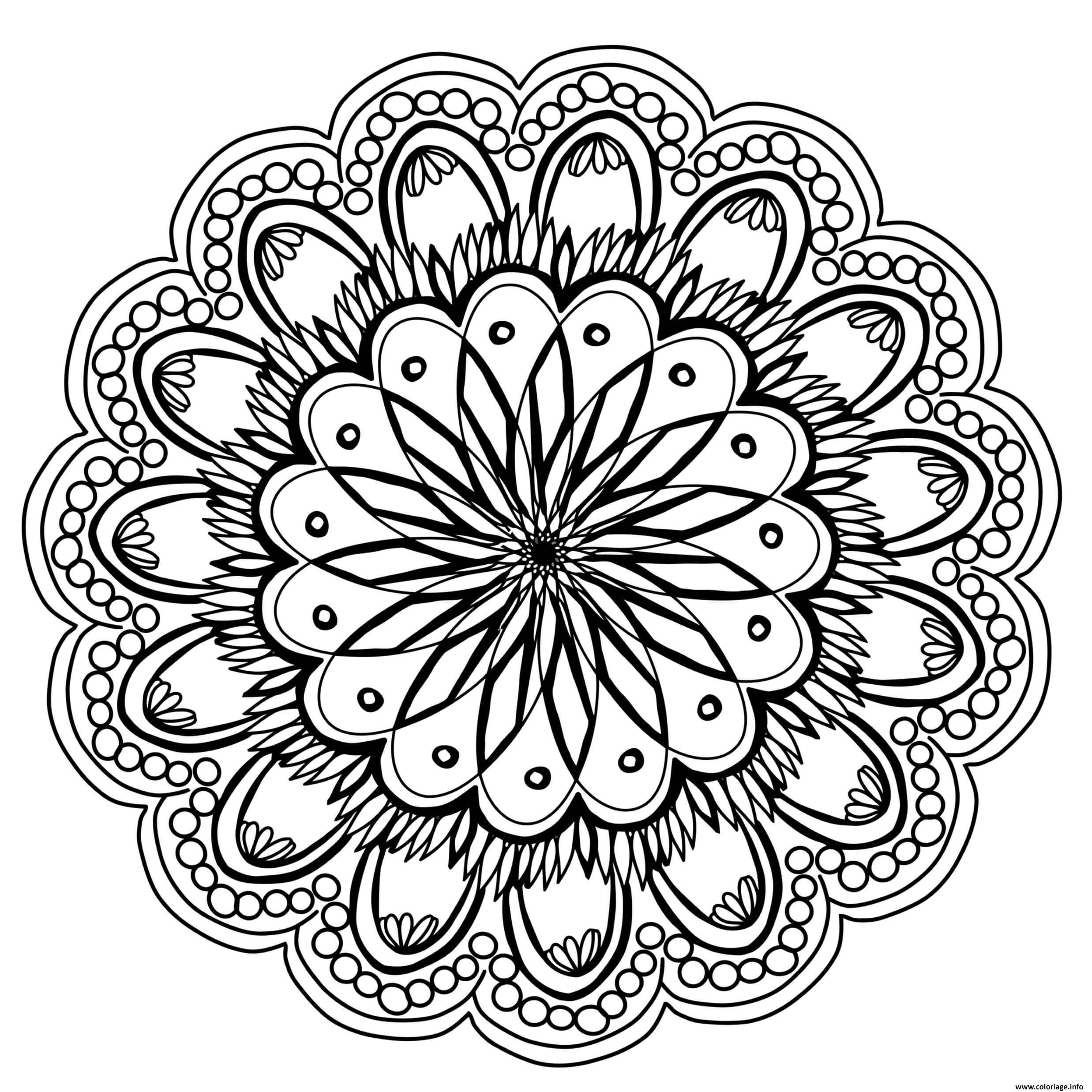 flowers mandala fleurs 2018 coloriage