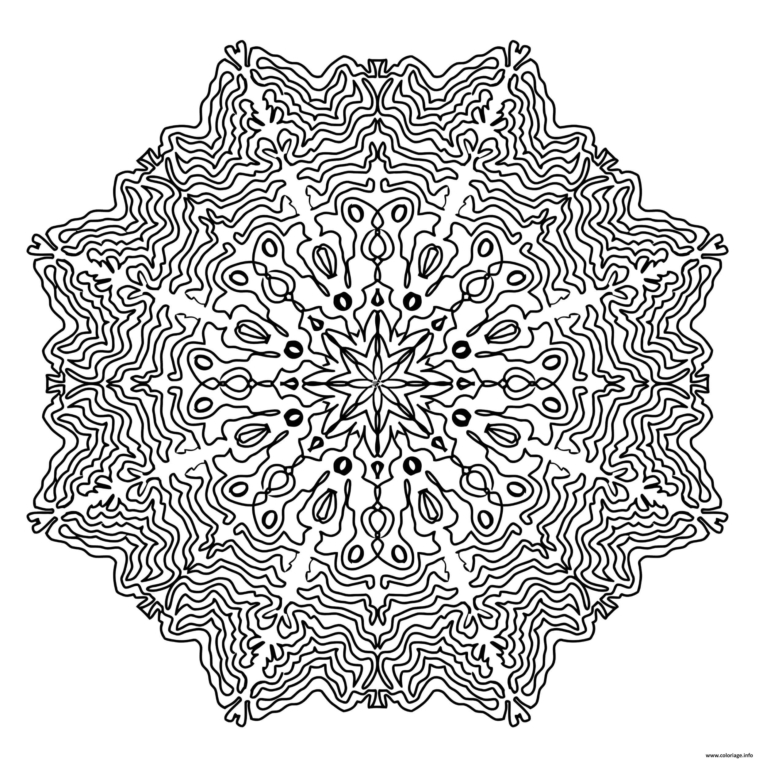 Coloriage mandala adulte antistress dessin - Image anti stress ...