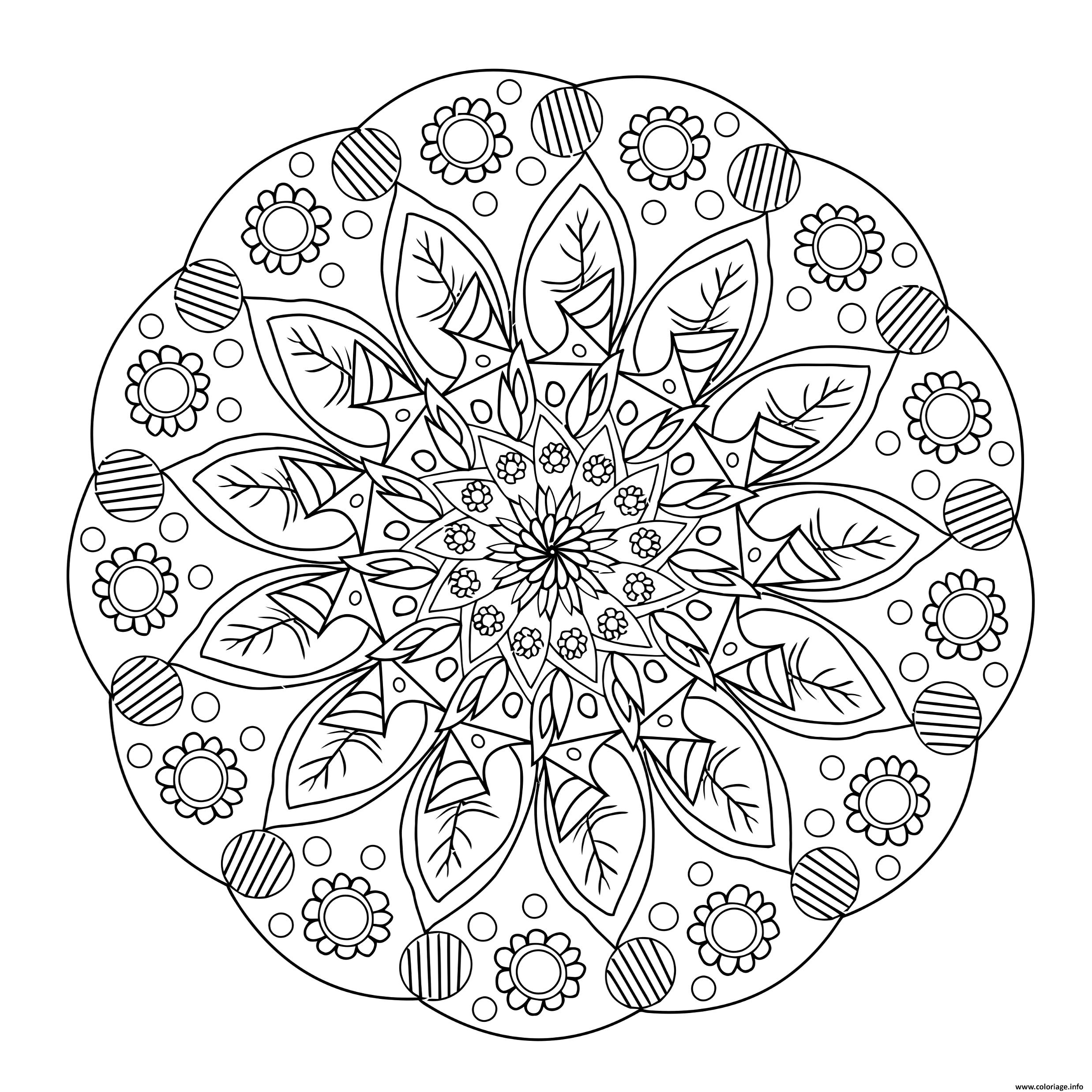 Dessin flowers mandala 2 Coloriage Gratuit à Imprimer