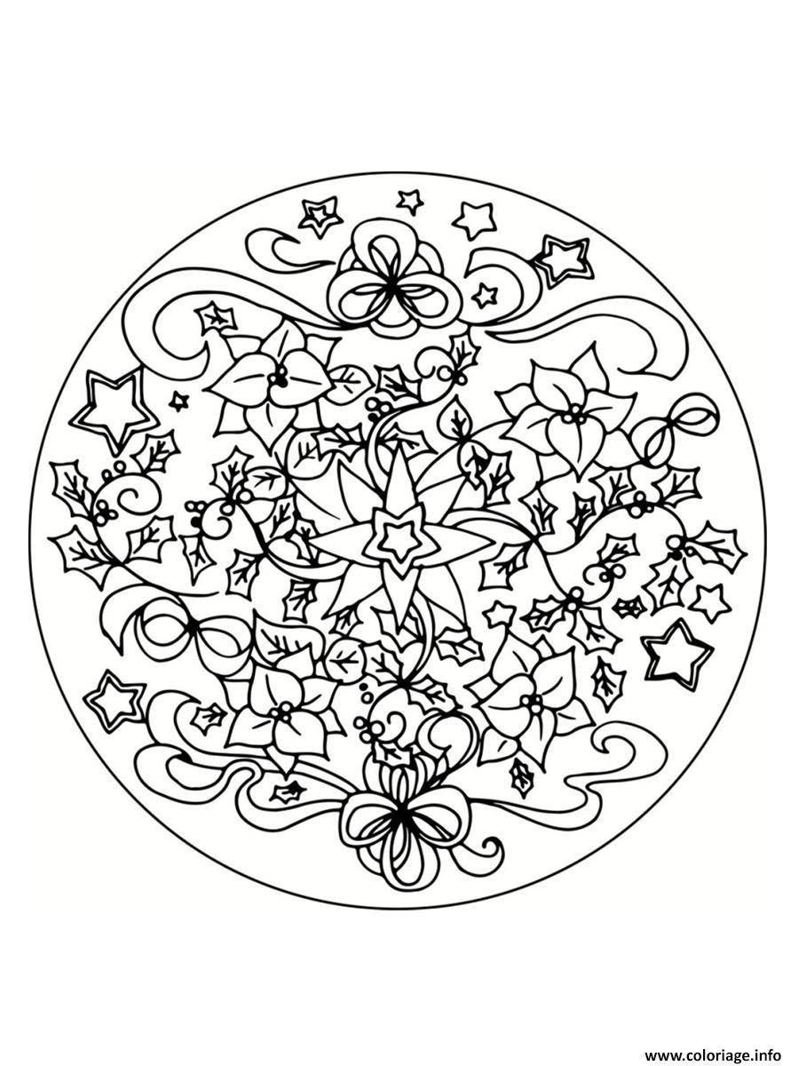 Coloriage mandala noel 13 dessin - Mandalas noel ...