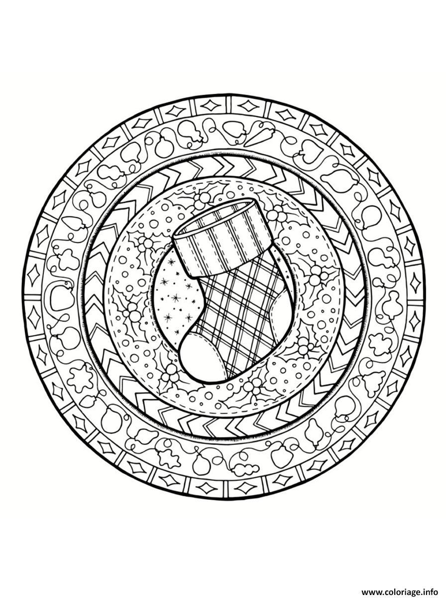 Coloriage De Noel à Imprimer Gratuit Mandala : coloriage mandala noel bas de noel ~ Pogadajmy.info Styles, Décorations et Voitures