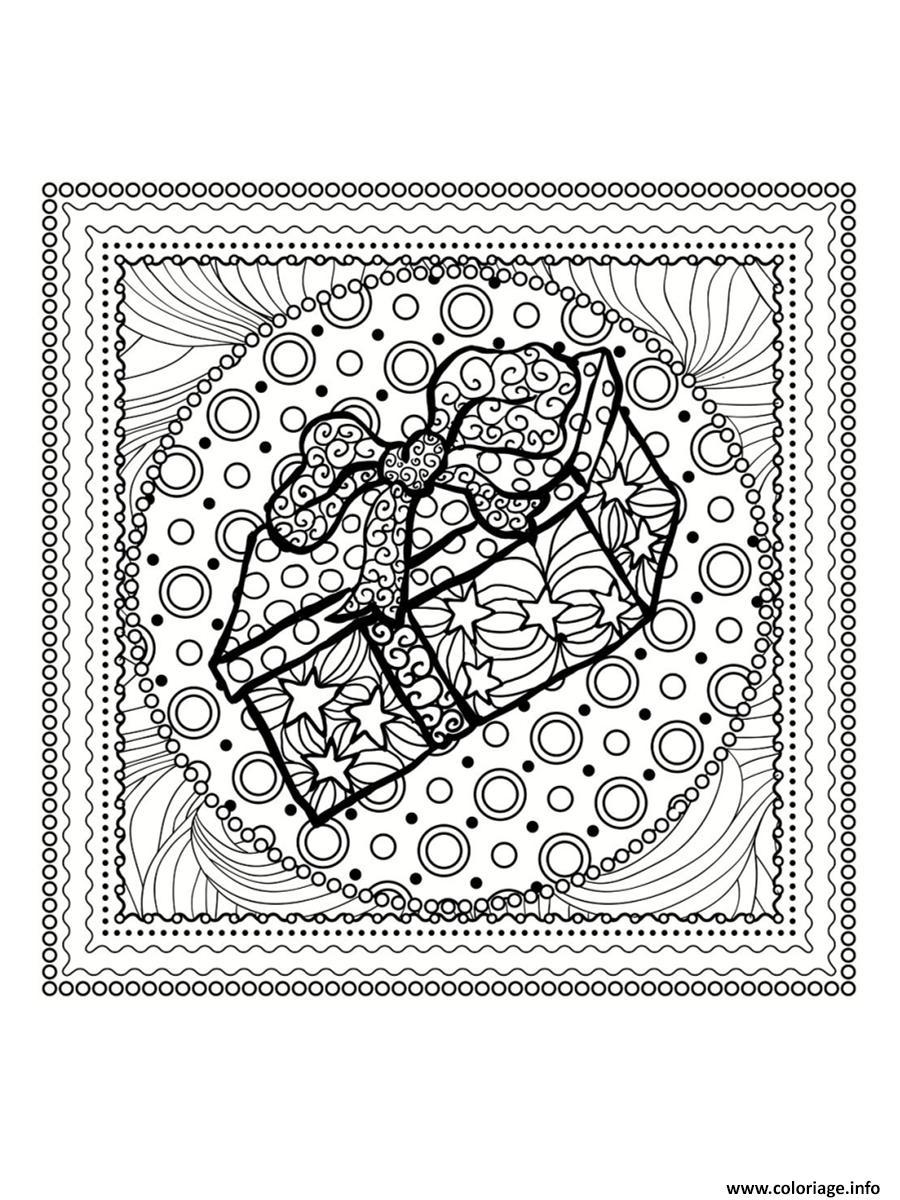 Coloriage De Noel à Imprimer Gratuit Mandala : coloriage mandala noel cadeau de noel dessin ~ Pogadajmy.info Styles, Décorations et Voitures