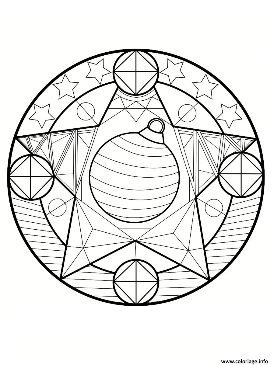 Coloriage mandala noel etoiles dessin - Dessins de mandala ...
