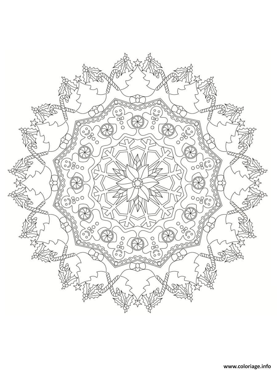 Dessin mandala noel 10 Coloriage Gratuit à Imprimer