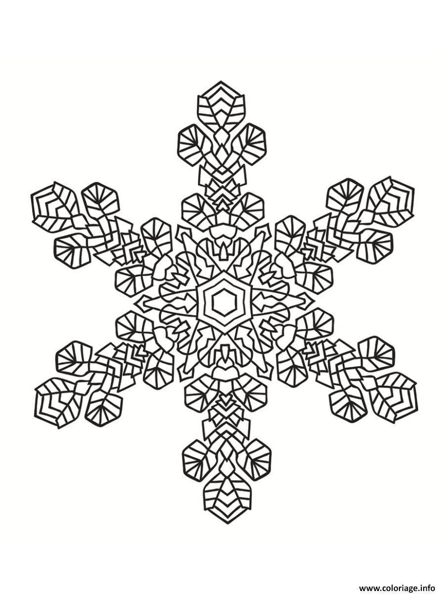 Coloriage Mandala Noel Flocon De Neige Dessin