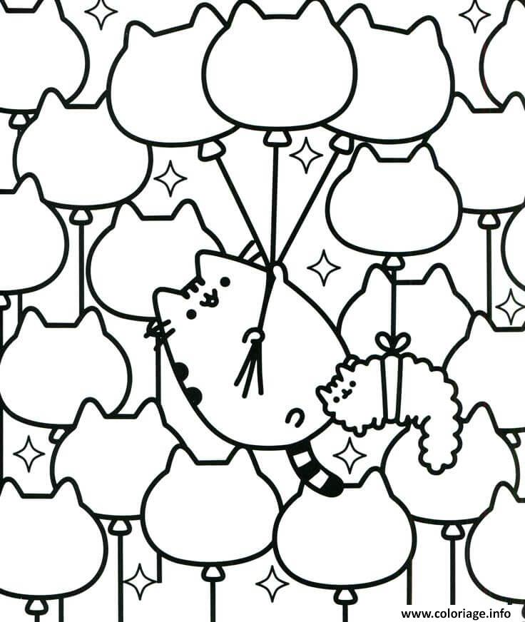 Dessin Easy Colouring Pages Pusheen for Toddlers Coloriage Gratuit à Imprimer