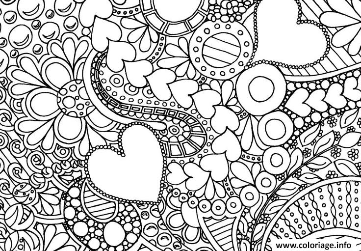 Coloriage Adulte A Imprimer Amour.Coloriage Doodle Adulte Amour Jecolorie Com