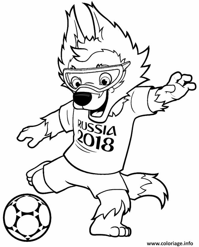 Coloriage Fifa World Cup 2018 Coupe Du Monde De Football Russie Dessin