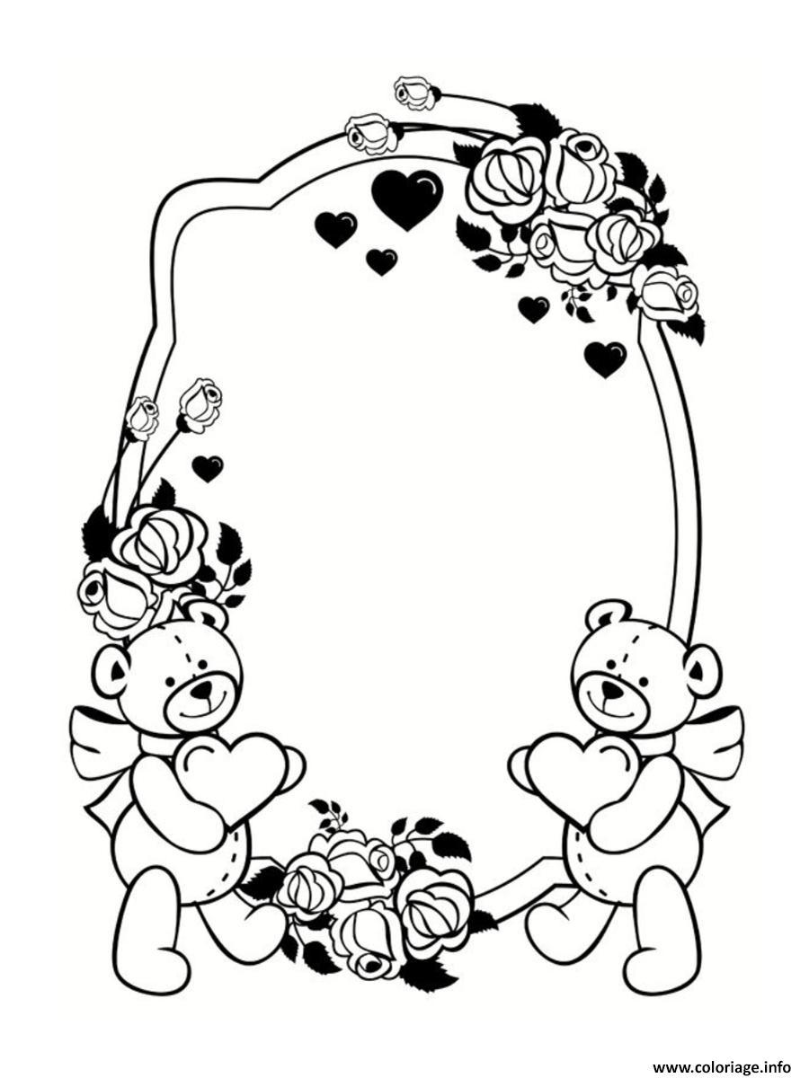 Coloriage cadre frame saint valentin dessin - Des dessin a imprimer gratuit ...