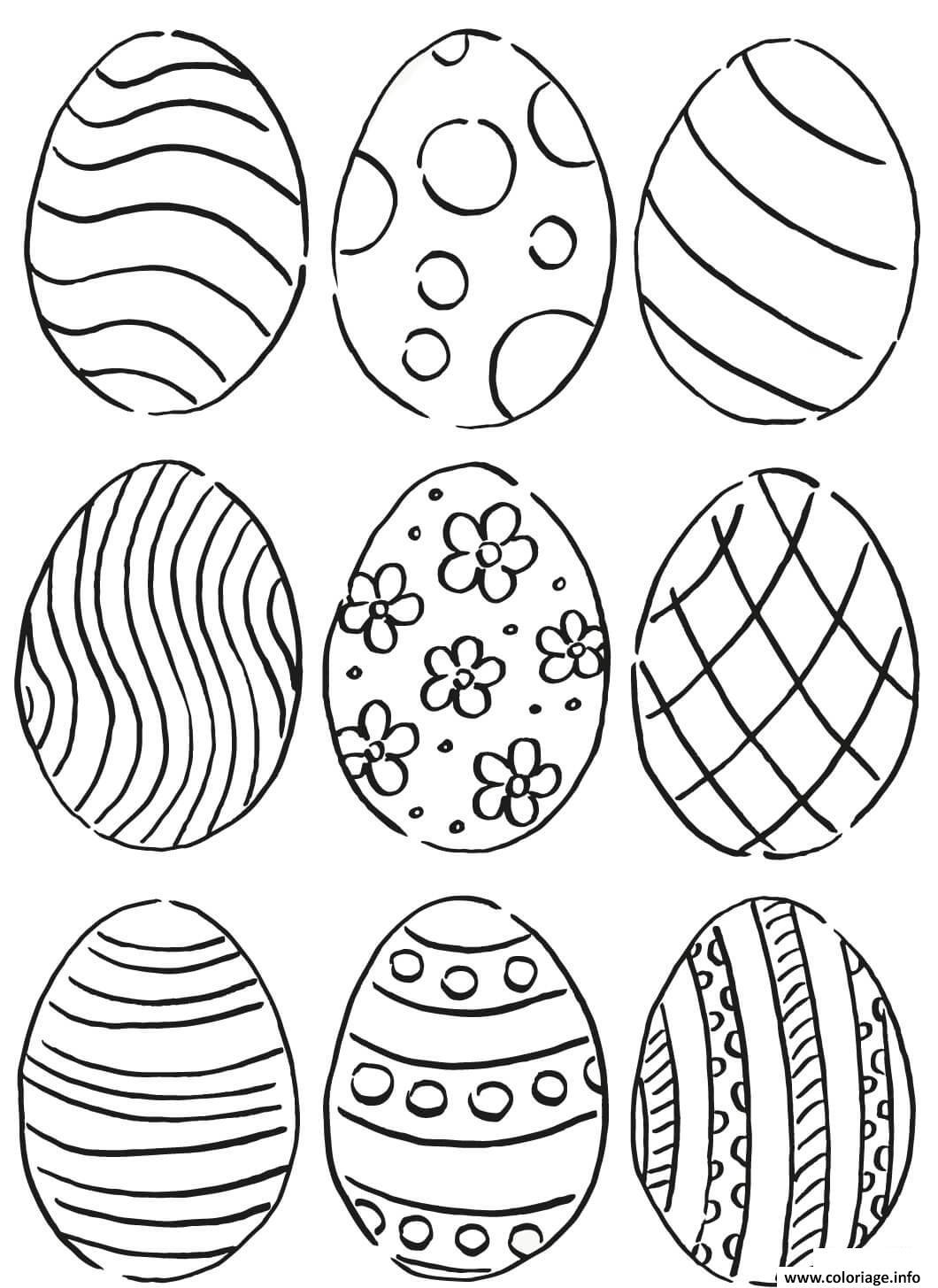 Coloriage Oeuf De Paquess Pattern Dessin
