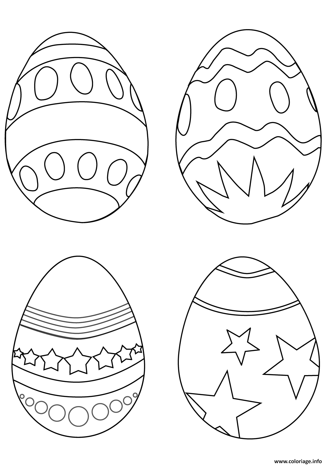 Coloriage simple oeuf de paquess - Coloriage simple ...