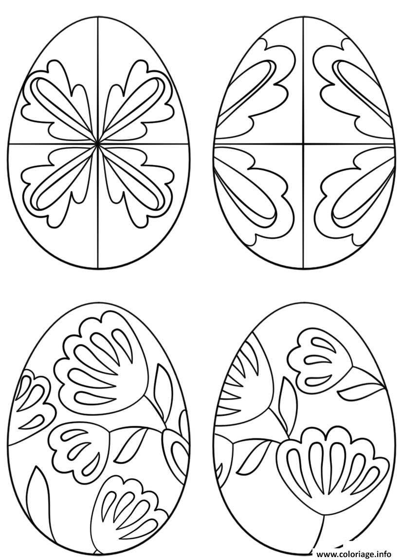 Coloriage pysanky eggs JeColorie