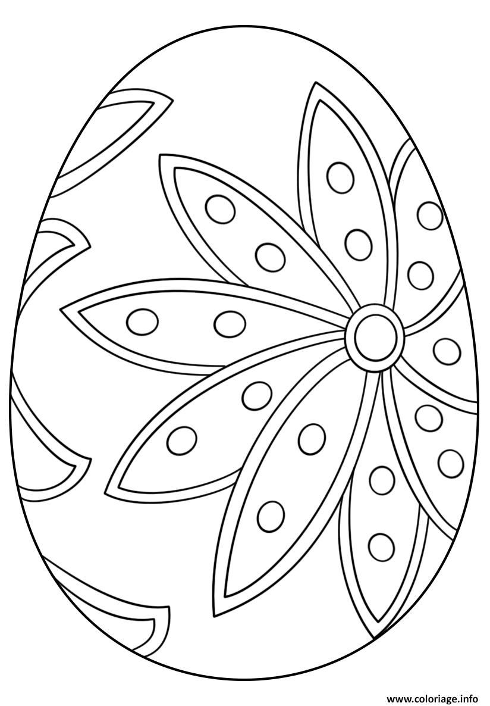 Coloriage Fancy Oeuf De Paques dessin