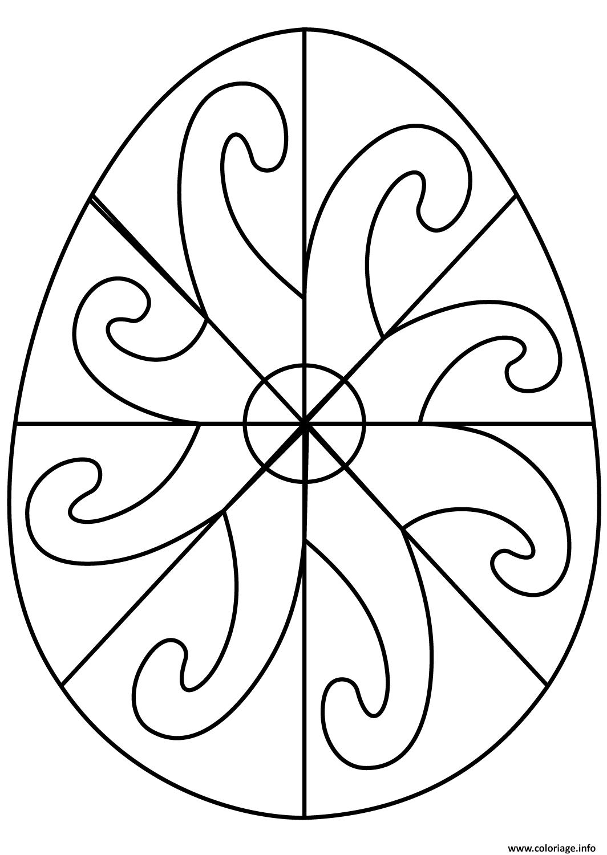 Coloriage Adulte Spirale.Coloriage Oeuf De Paques Avec Spiral Pattern Dessin
