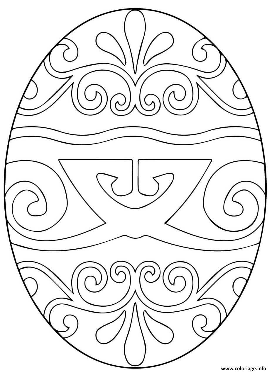 coloriage pysanka ukrainian oeuf de paques 2 dessin