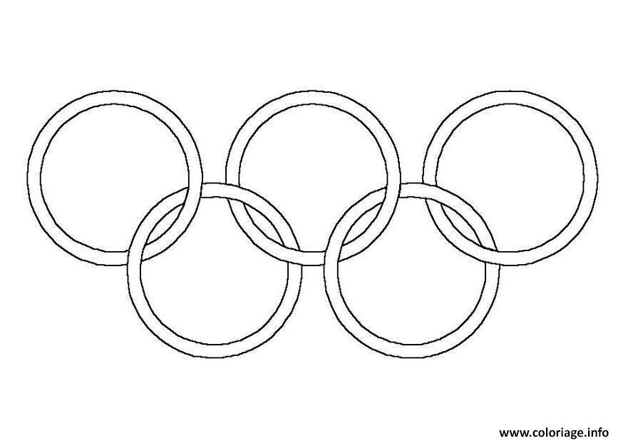 Dessin anneaux olympiques olympic rings Coloriage Gratuit à Imprimer