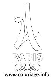 Dessin paris 2024 jeux olympiques Coloriage Gratuit à Imprimer