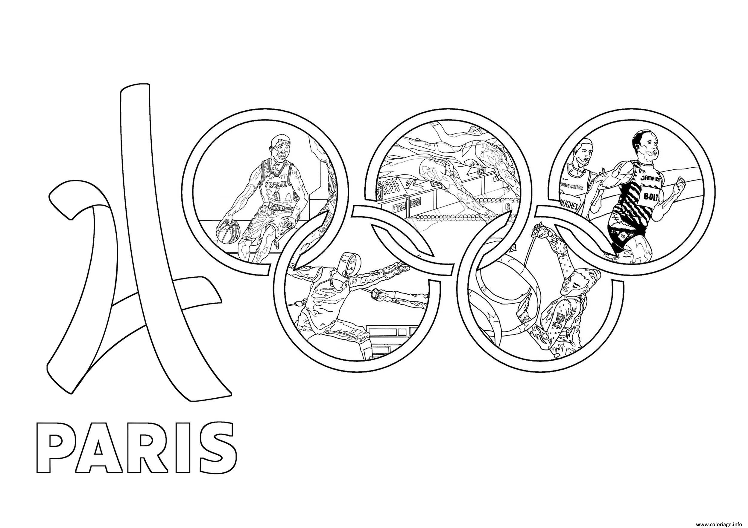 Dessin jeux olympiques paris 2024 Coloriage Gratuit à Imprimer