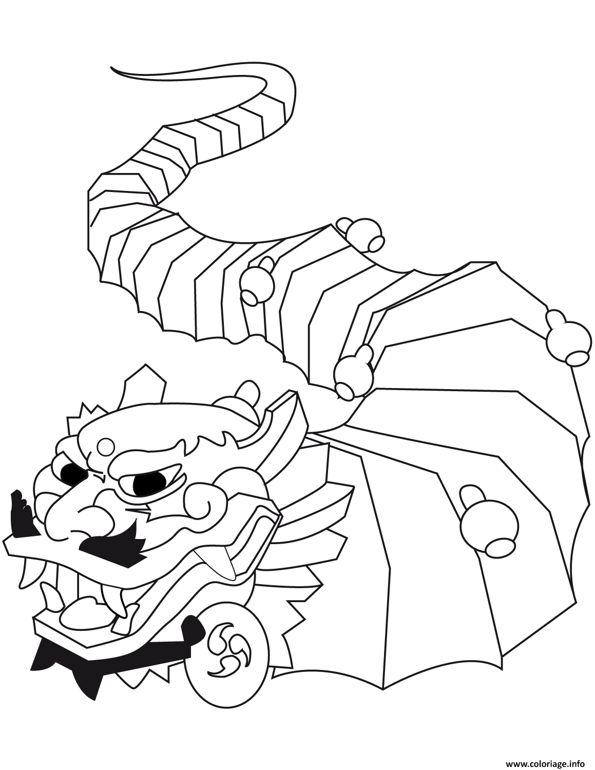 Coloriage Cool Nouvel An Chinois Dragon Jecolorie Com