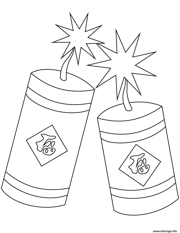 Dessin nouvel an chinois firecrackers Coloriage Gratuit à Imprimer