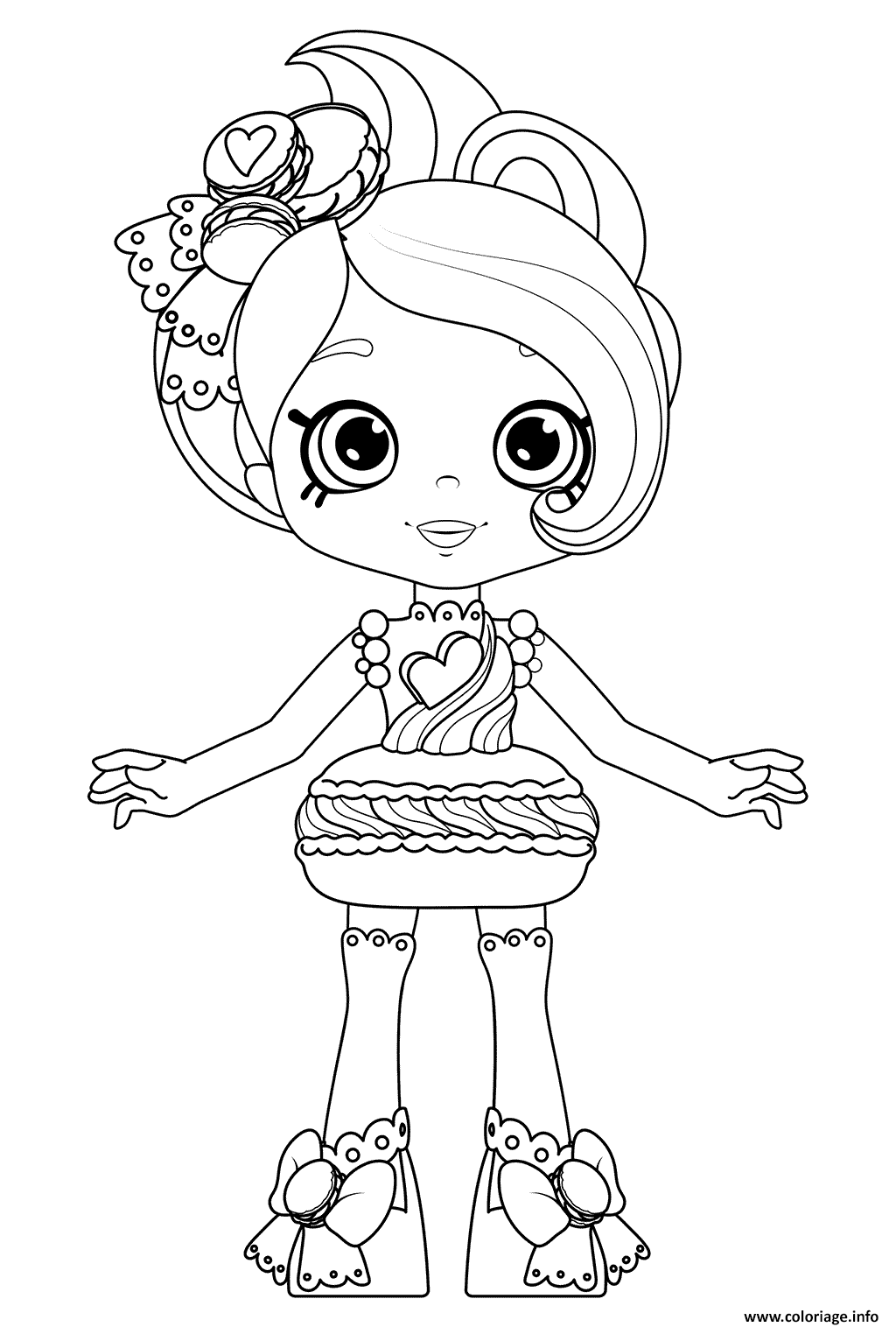 Coloriage Macy Macaron From Happy Places Kitty Kitchen Print And Color Dessin à Imprimer