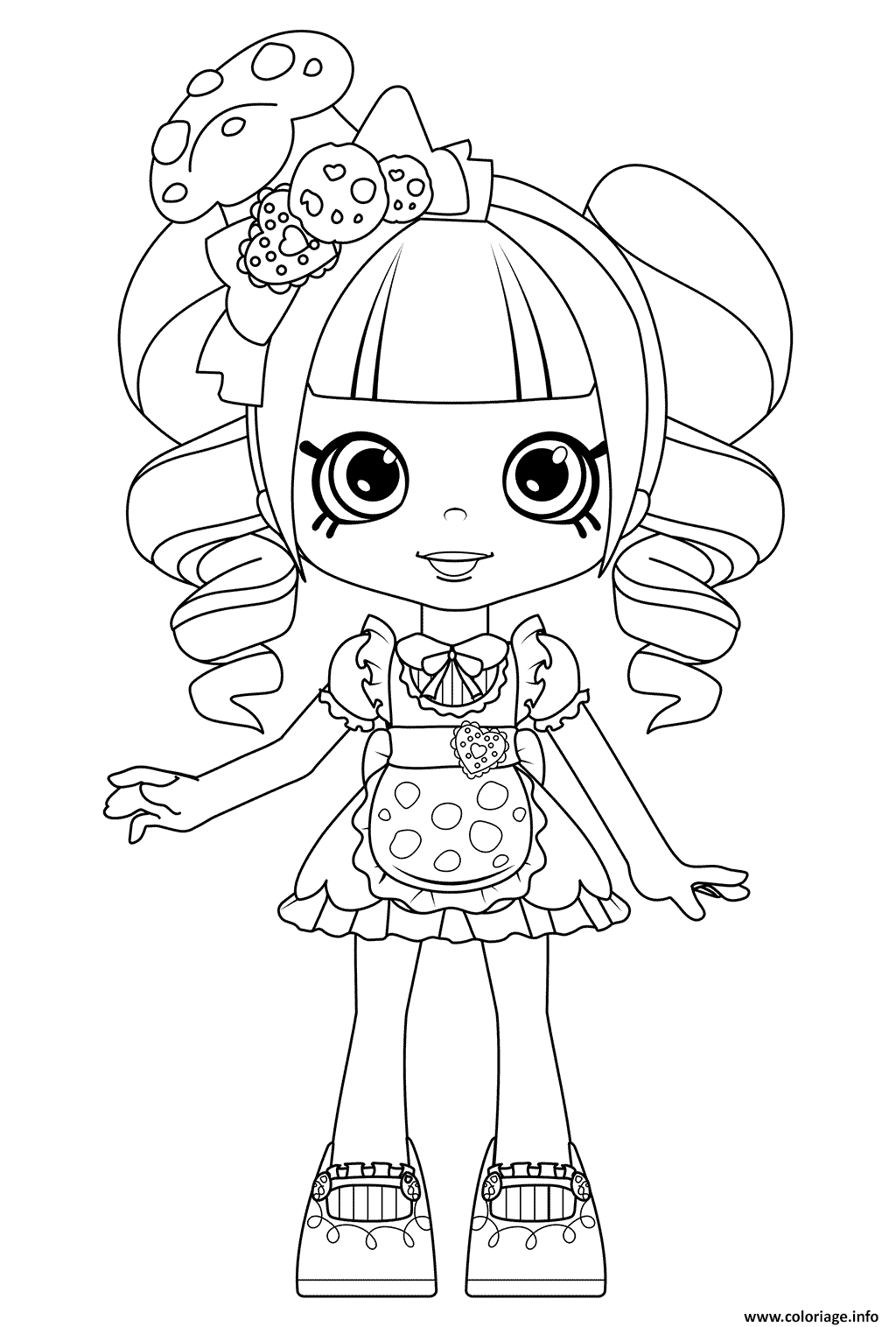 Coloriage Coco Cookie Shoppies Dolls from Shopkins ...