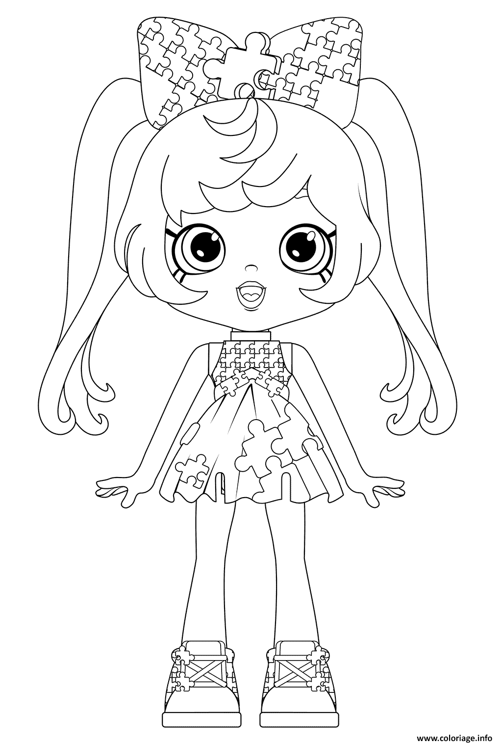 Coloriage pia puzzle from happy places mousy hangout - Coloriage puzzle ...