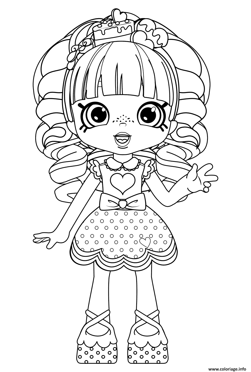 Coloriage Rainbow Kate Shopkins Dolls Dessin à Imprimer