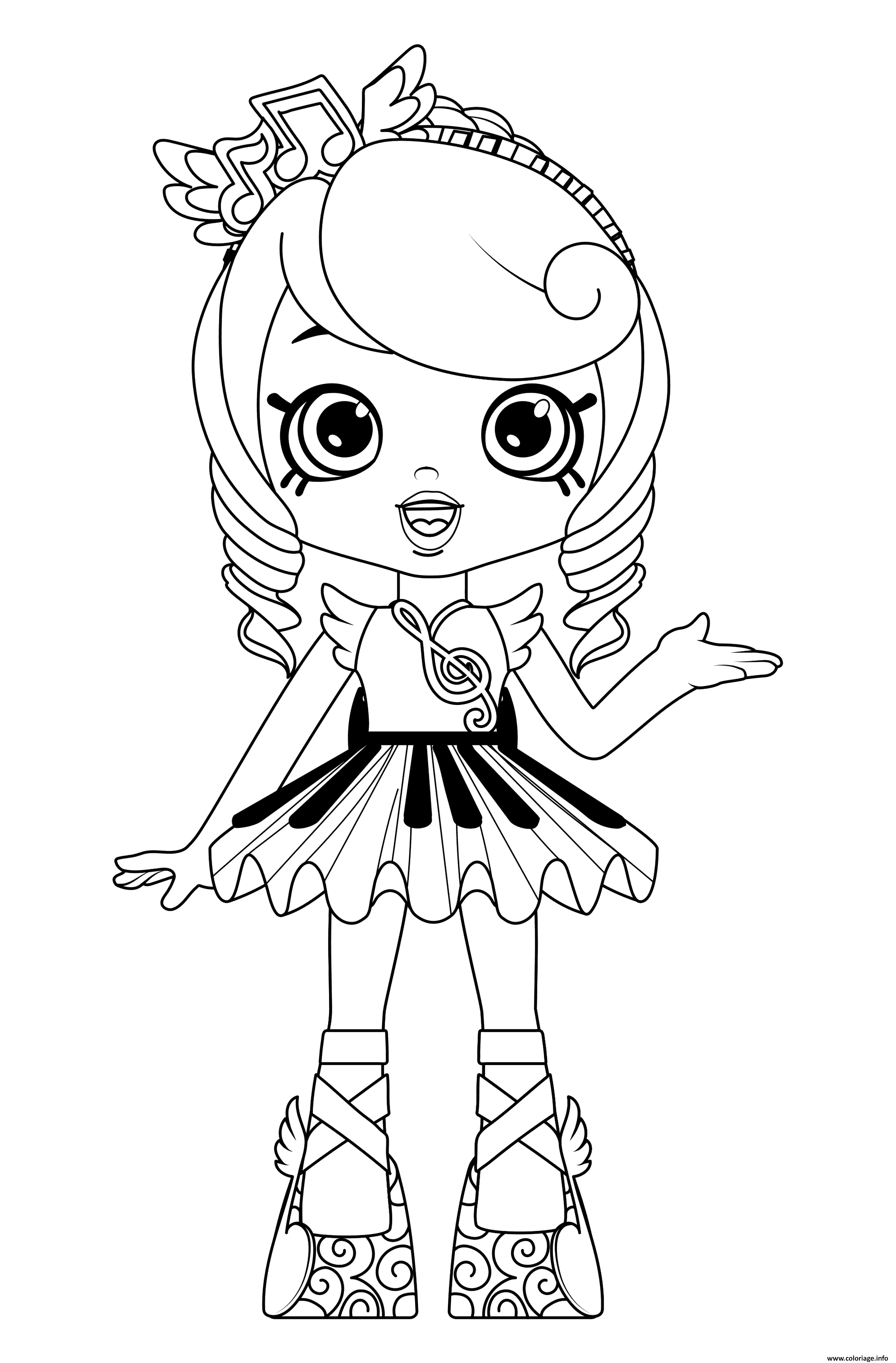Coloriage Free Printable Shoppies Dolls Melodine Dessin à Imprimer
