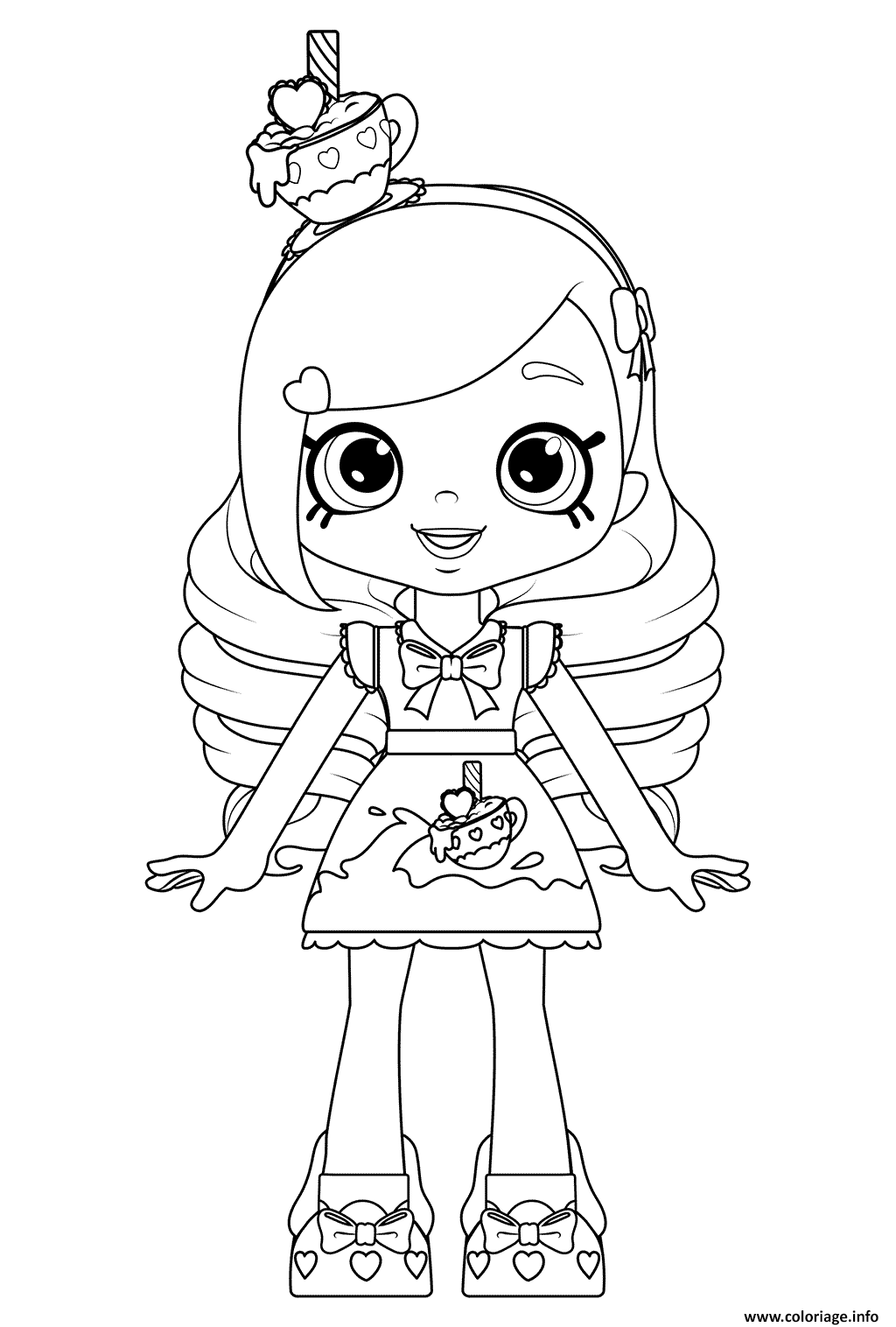 Coloriage Kirstea Shoppies Doll Dessin à Imprimer