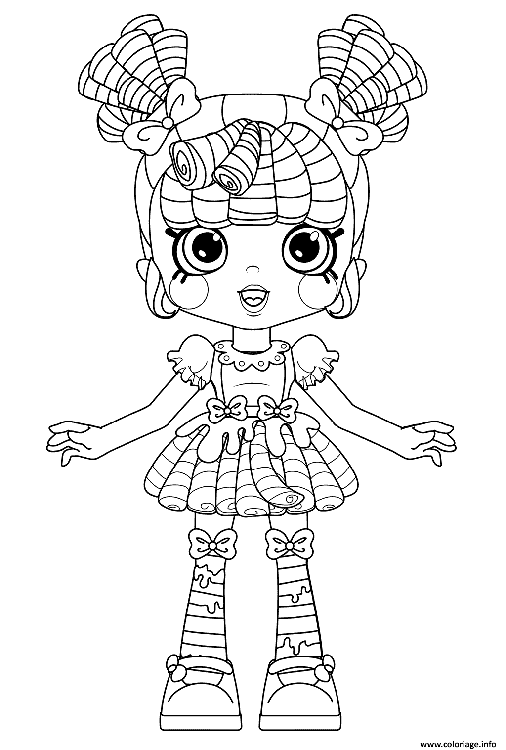 Coloriage Shoppies Milly Mops For Kids Dessin à Imprimer