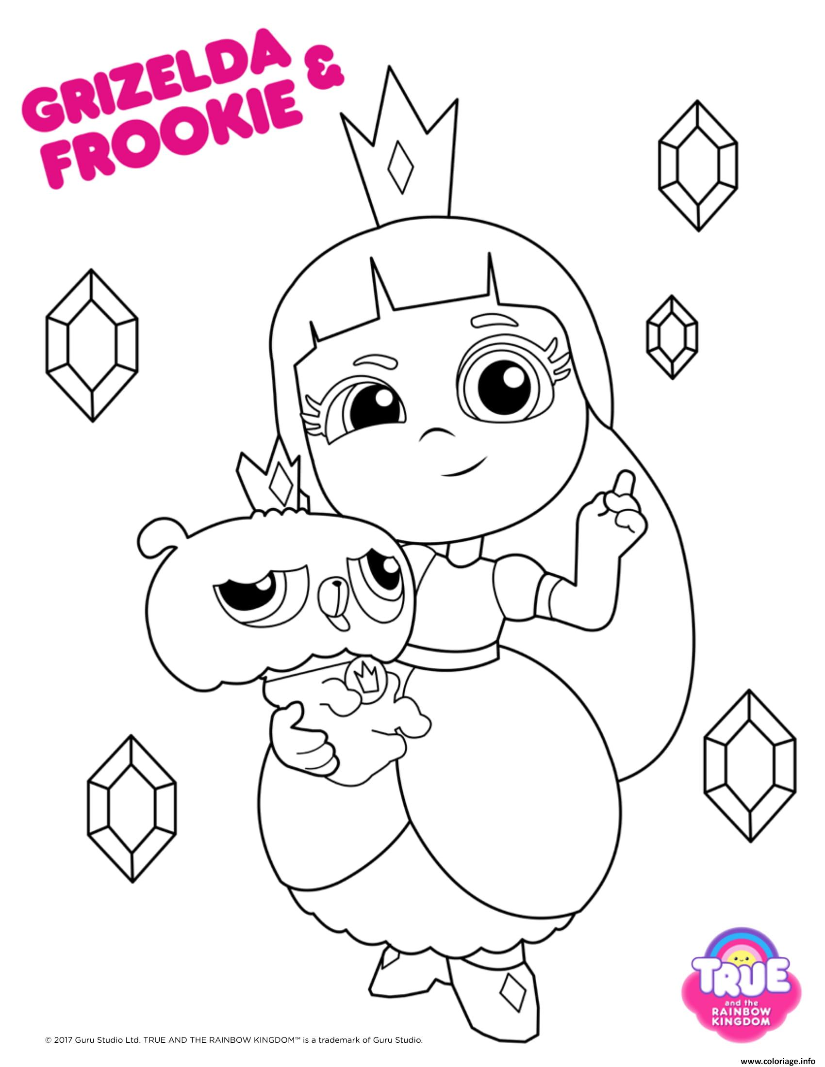 true and the rainbow kingdom coloring pages coloriage grizelda frookie 1 true and the rainbow kingdom