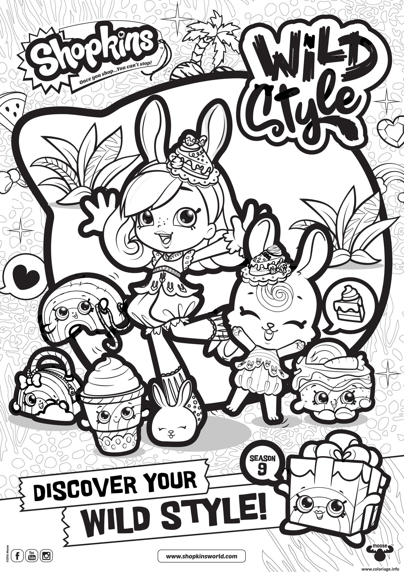 Coloriage shopkins saison 9 wild style 6 - Style de dessin ...