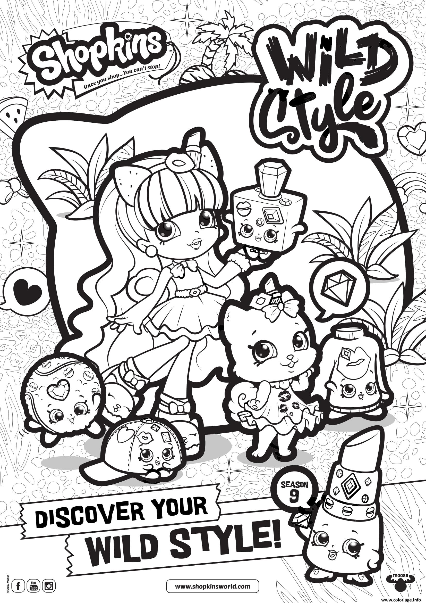 Coloriage Shopkins Saison 9 Wild