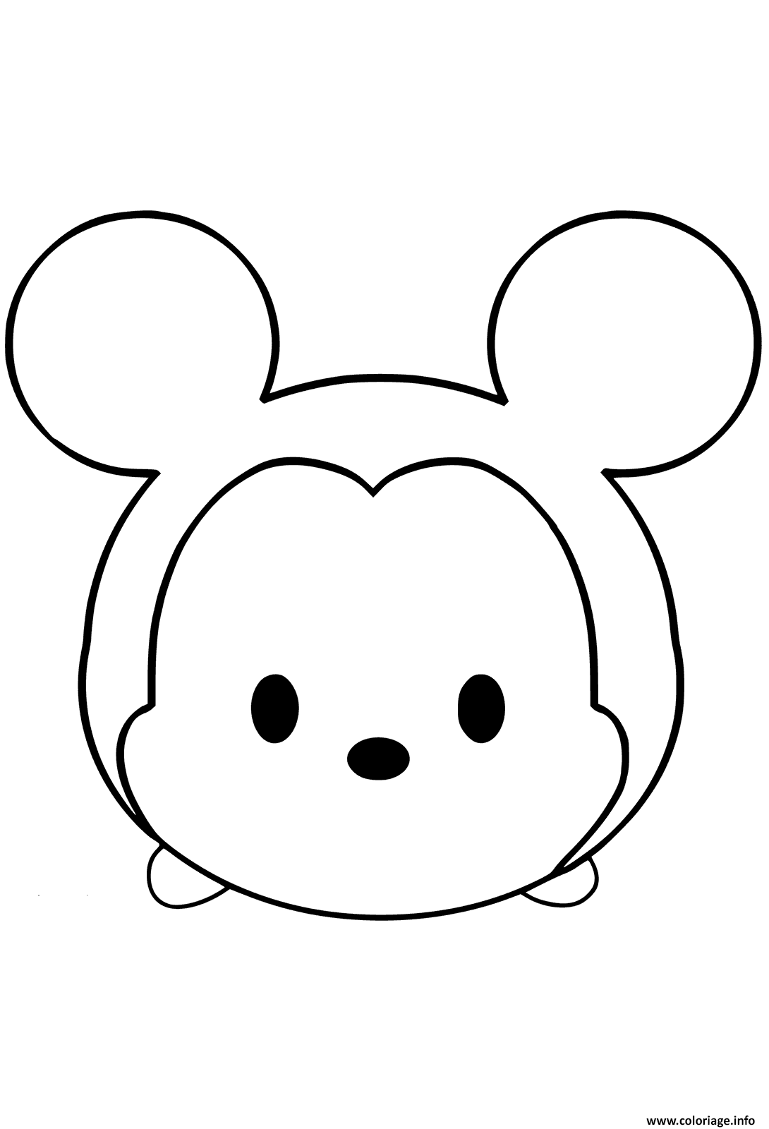 Coloriage Mickey Mouse Emoji Face Tsum Tsum Dessin