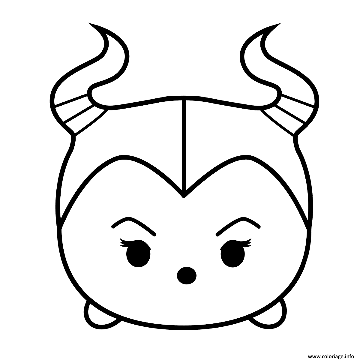 Coloriage cute maleficent tsum tsum for Tsum tsum coloring pages