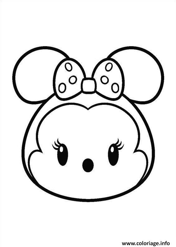 Coloriage minnie mouse tsum tsum - Coloriage gratuit minnie mouse ...