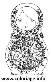 Dessin Matryoshka dolls 3 Poupee Russe Coloriage Gratuit à Imprimer