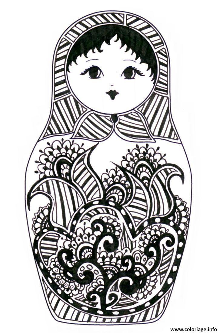 Dessin Matryoshka dolls 8 Poupee Russe Coloriage Gratuit à Imprimer