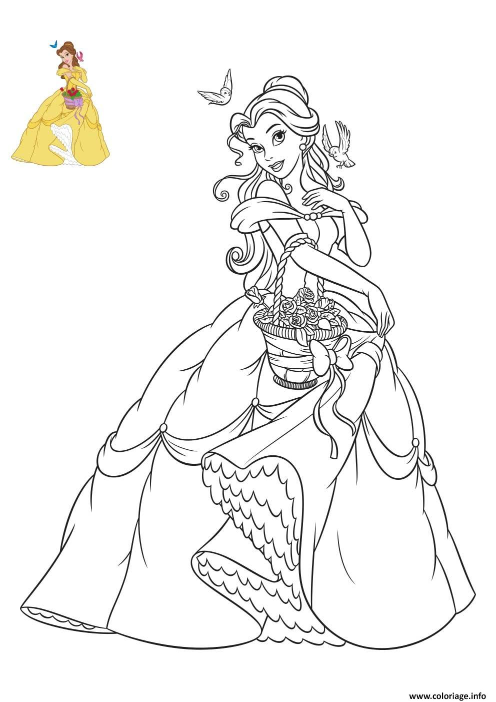 Coloriage Princesse Disney Belle Dessin