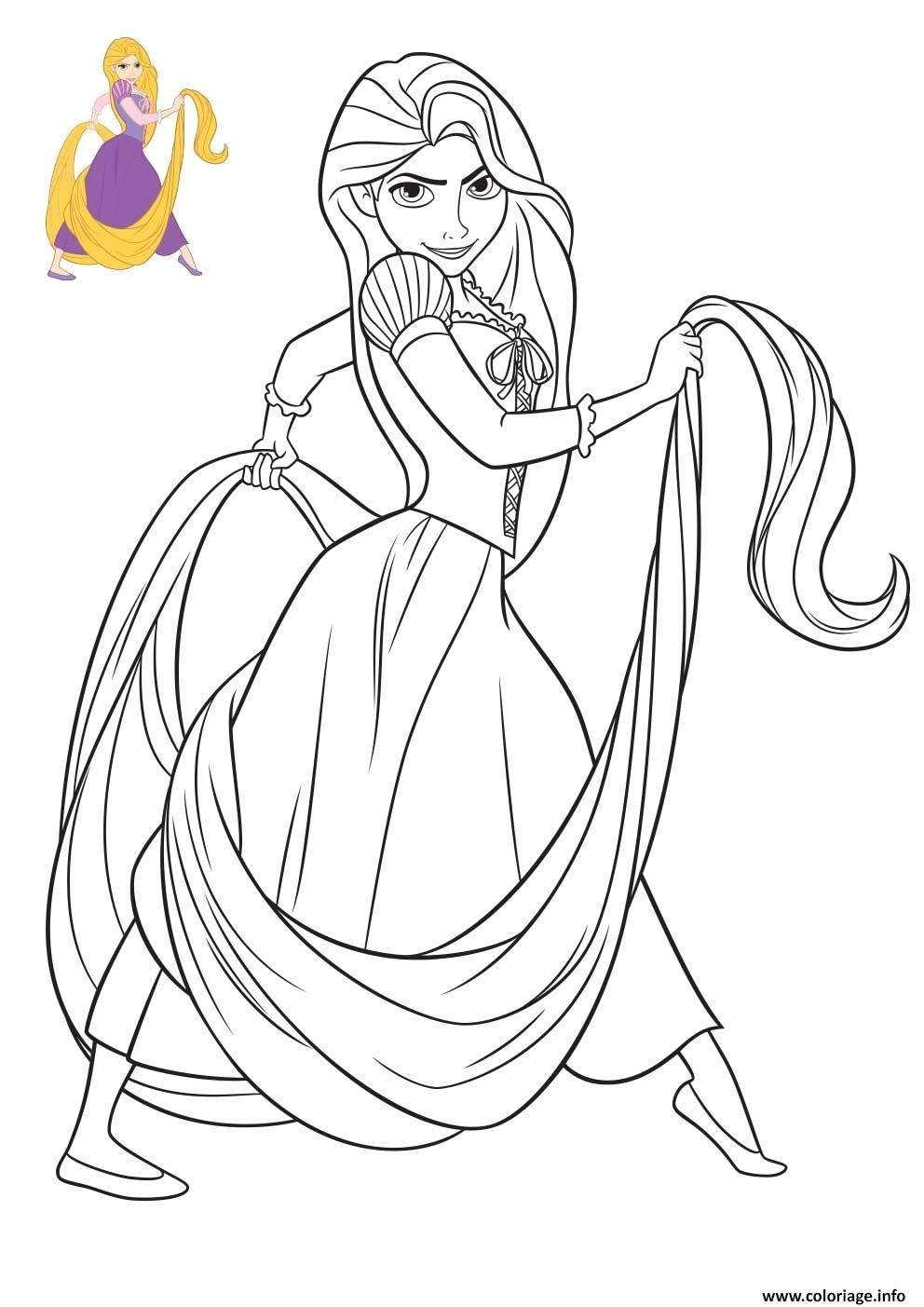 Coloriage Princesse Disney Raiponce Dessin Princesse ...