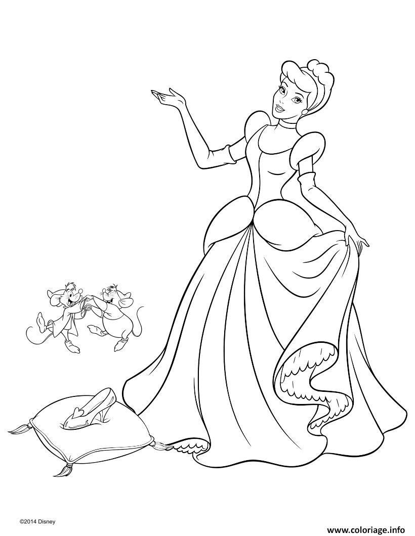 Coloriage Princesse Disney Cendrillon 2 Jecolorie Com