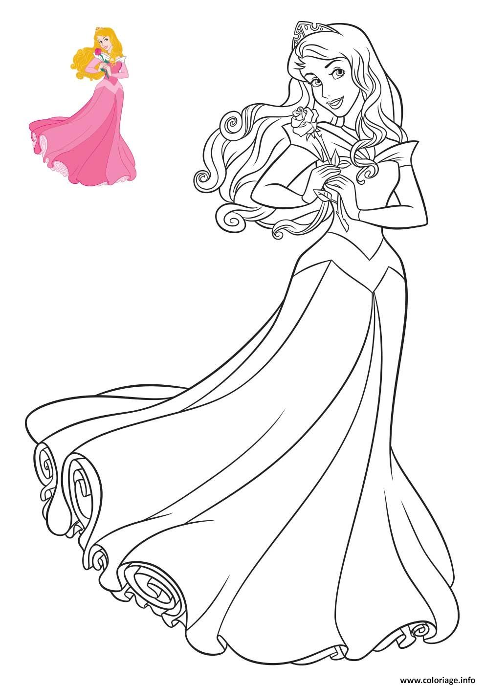 Coloriage princesse disney aurore - Coloriage disney ...