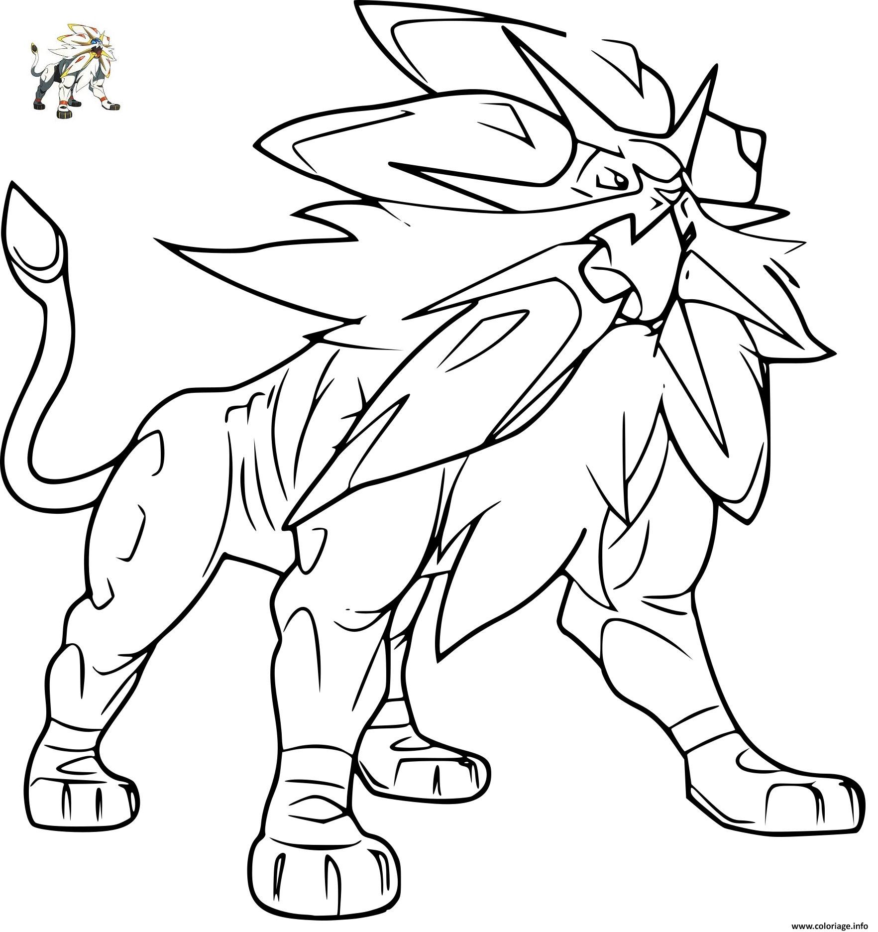Coloriage pokemon solgaleo gx - Coloriage de pokemon a imprimer ...