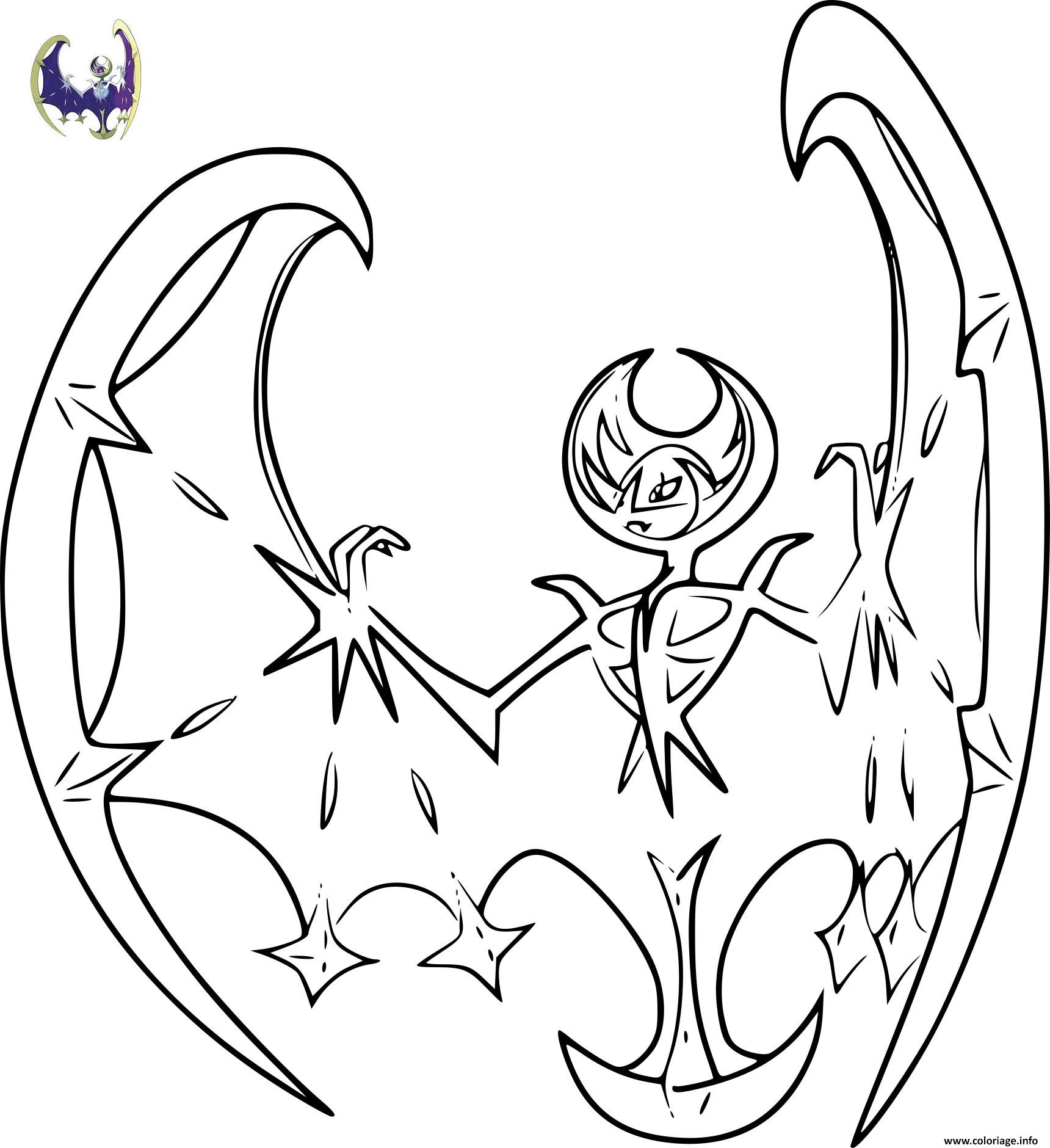Coloriage pokemon lunala - Coloriage carte pokemon ...