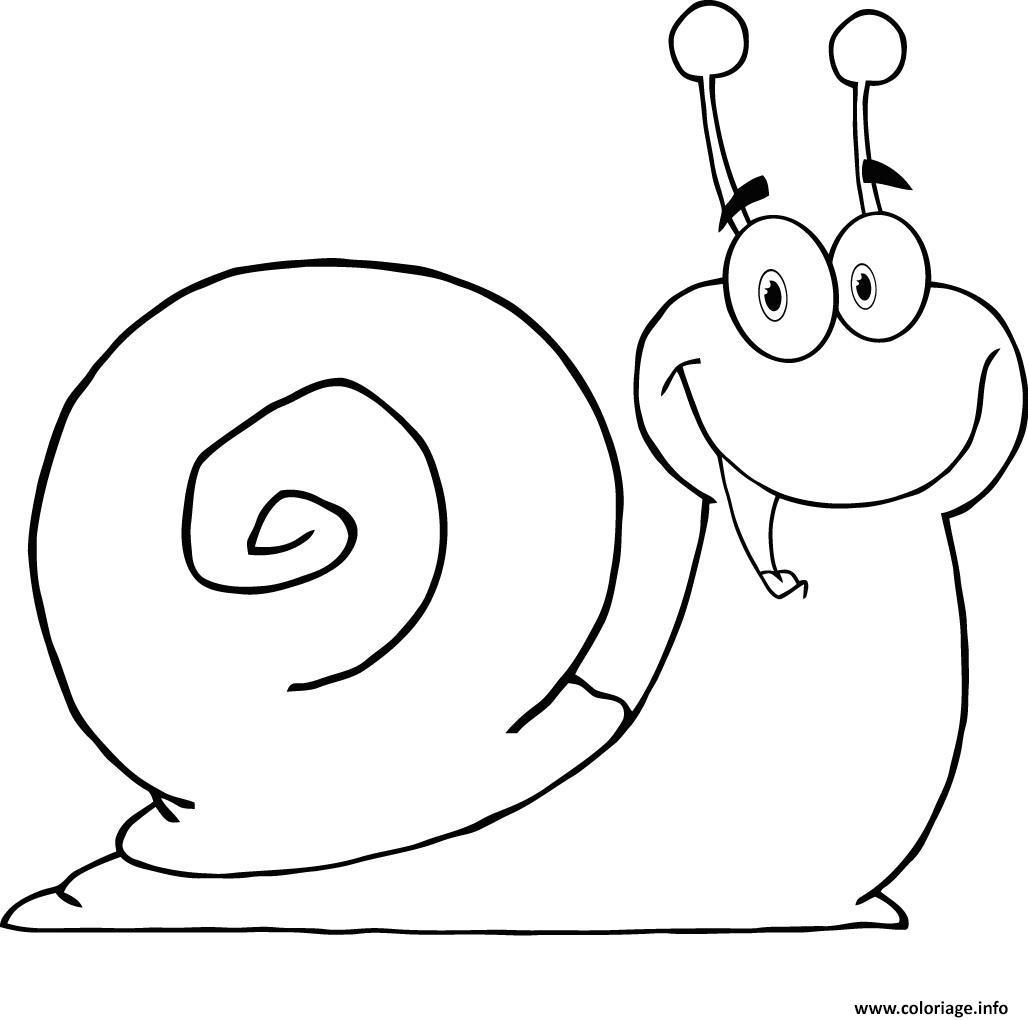 Coloriage Escargot Joyeux Et Heurex Dessin