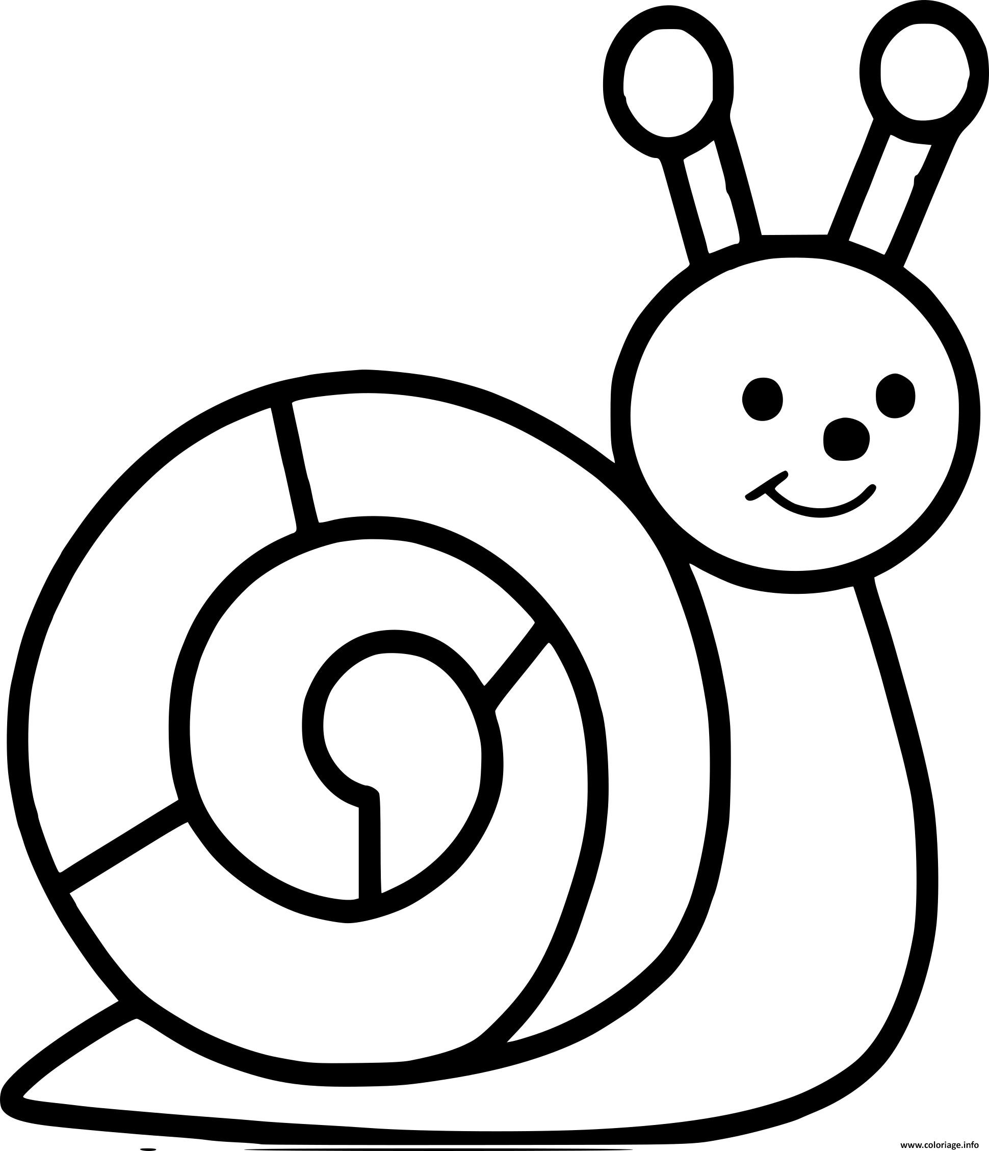 Coloriage escargot maternelle - Escargot dessin ...