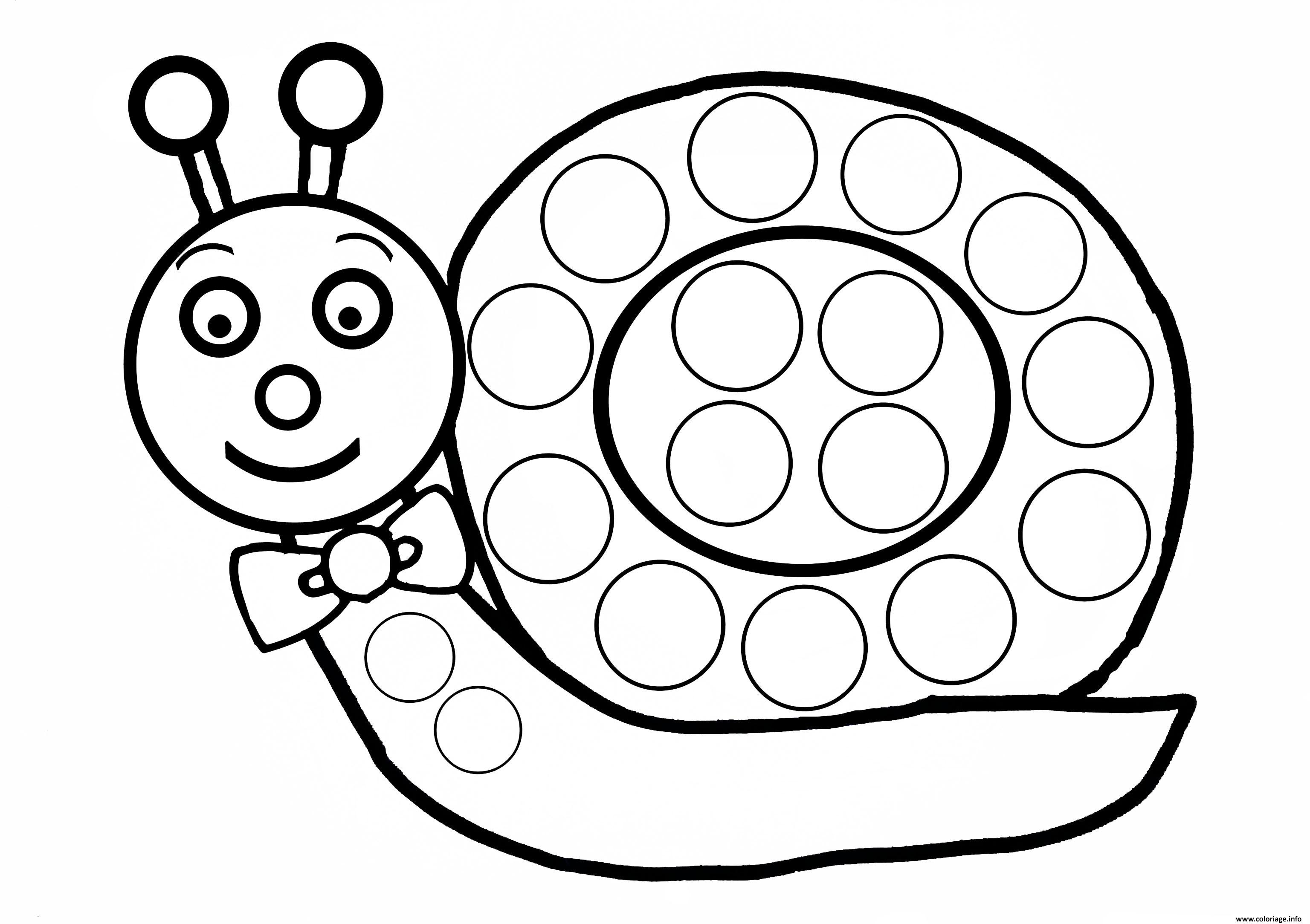 Coloriage escargot a gommette enfant - Coloriage escargot a imprimer ...