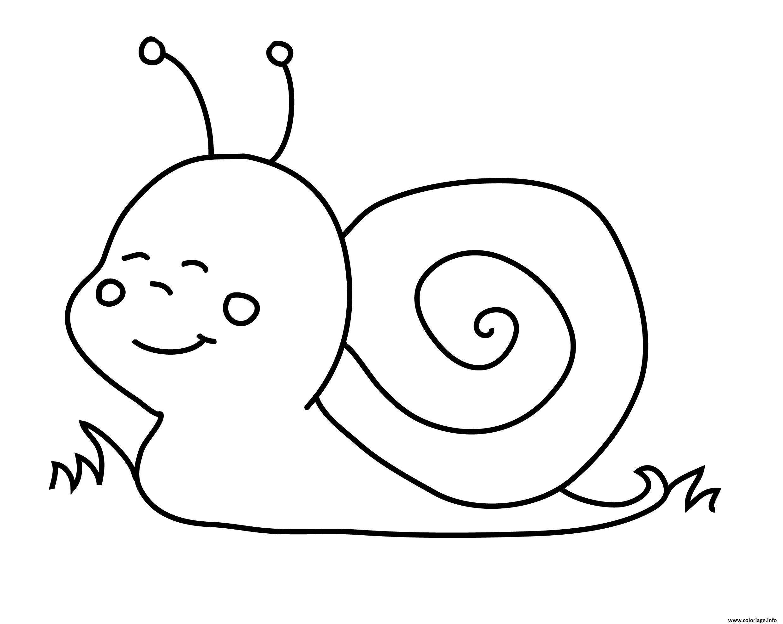 Coloriage Escargot Minion Dessin Escargot A Imprimer