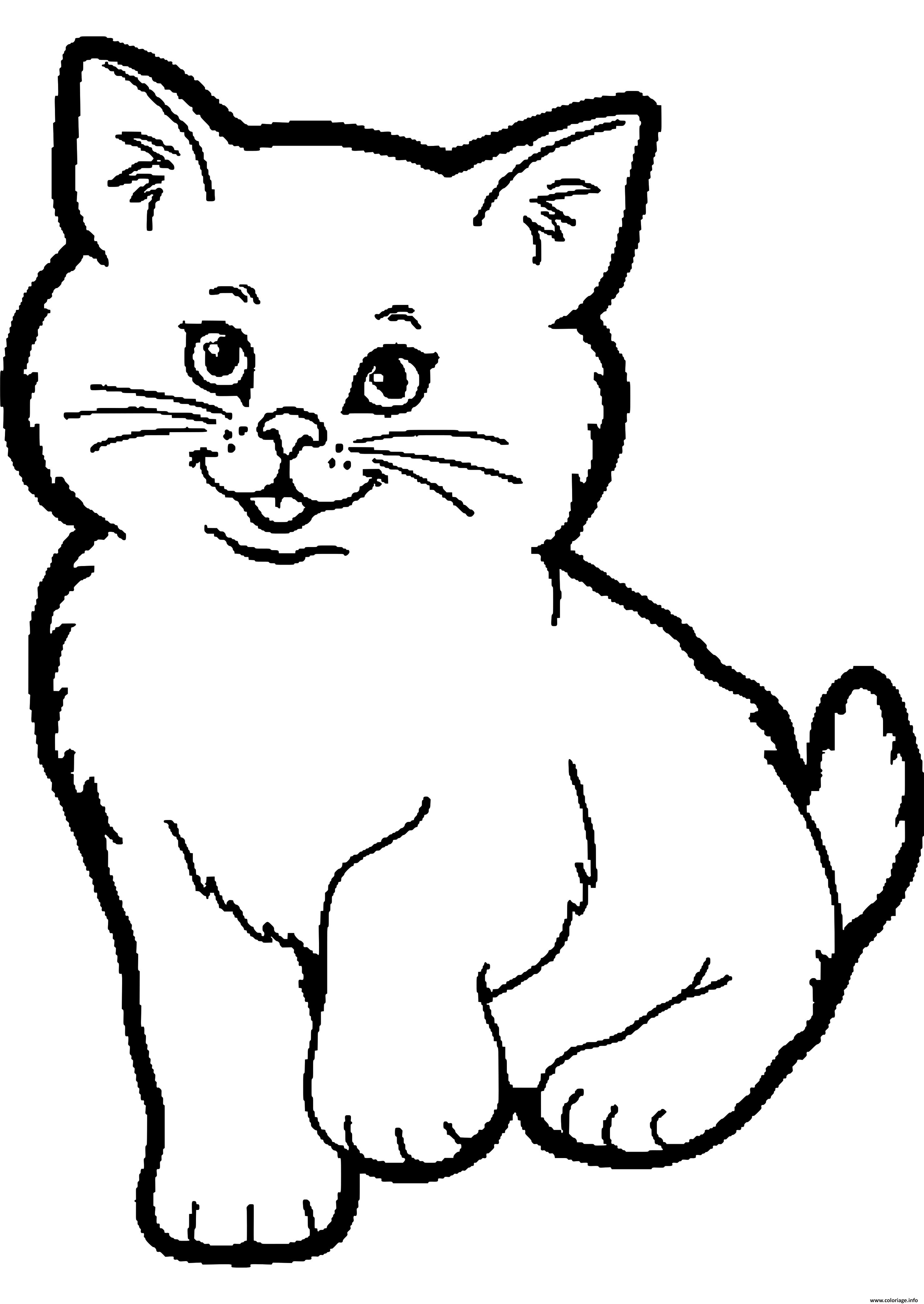 Coloriage Dessin Animaux Chat Dessin